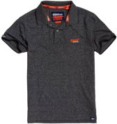 Superdry Orange Label Jersey  Sportpolo - Maat L  - Mannen - grijs