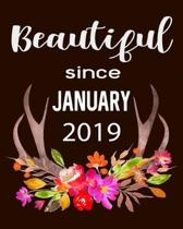 Beautiful Since January 2019: Hunting Hobby 2020 Monthly Planner Dated Journal 8'' x 10'' 110 pages