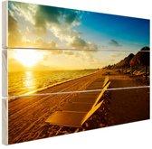 FotoCadeau.nl - Cancun strand Mexico Hout 80x60 cm - Foto print op Hout (Wanddecoratie)
