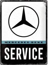 Wandbord - Mercedes Benz Service 30x40 cm