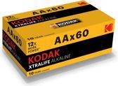 Kodak Batterijen XTRA LIFE - AA - 60 stuks