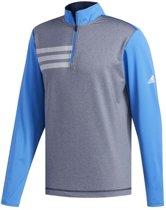Adidas 3-stripes Competitie Golftrui Heren Grijs Maat Xs