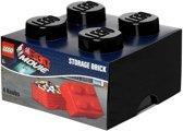 Lego Opbergbox - Brick 4 - Movie - Zwart