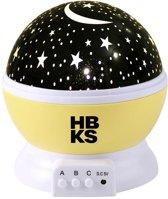 Sterrenhemel Verlichting Kinderkamer - Moon Light Projector - Nachtlampje kind | baby - nachtlamp - Snoezellamp - Spacelamp - Cadeau kind + Bijbehorende oplaadkabel! (GEEL)