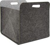 Vilten opbergbox 33x33x38 cm Kallax vilten korfbox inlegbox vilt grijs