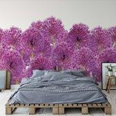 Fotobehang Purple Flowers | VEXXXXL - 416cm x 290cm | 130gr/m2 Vlies