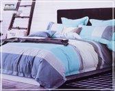 Dekbedovertrek 240 x 220cm Micropercal Lits-Jumeaux Bedlin Blue Lagoon