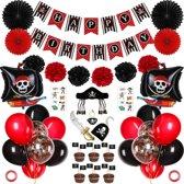 Piratenfeest Verjaardag Thema Party - Piraten Feestje Versiering - Kinderfeest - Feest Decoratie