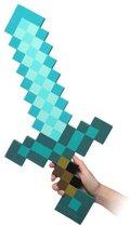 Minecraft Pixel Foam - Diamond Zwaard Blauw 60cm