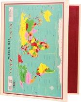 Ringmap met wereldkaart