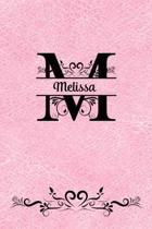 Split Letter Personalized Name Journal - Melissa