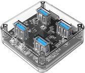 Orico USB 3.0 Hub  4x USB 3.0 poorten - Transparant