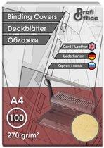schutbladen ProfiOffice A4 270gr. karton 100 stuks leer geel