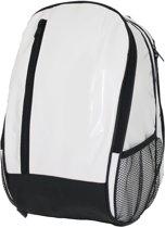 1016 Dunga rugtas - 39 x 27 x 22 cm, 23 liter Backpack rugzak wit /zwart