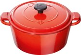 Mains libres ronde cocotte/braadpan 20 cm - rood