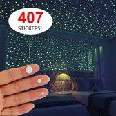 Glow Muurstickers Stippen - 407 Stuks