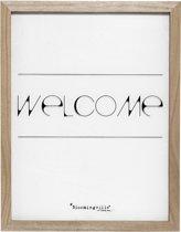 9a35f356 Bloomingville - Tekstbord - Hout/Plexiglas - Transparant/Zwart print