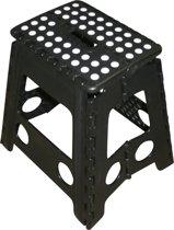 Kruk - Krukje - Keukentrap - Keukentrapje - Opvouwbaar - Zwart Wit - tot 120 kg