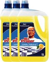 Mr Proper allesreiniger, citroen, fles van 3 x 5 liter VOORDEELVERPAKKING