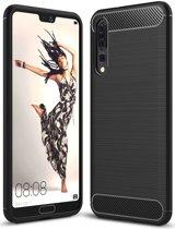 Huawei P20 Pro Geborsteld TPU Hoesje Zwart