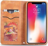Apple iPhone XS Retro Portemonnee Hoesje Bruin