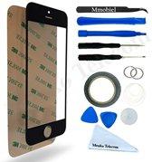 MMOBIEL Display touchscreen glas geschikt voor iPhone 5 / 5C / 5S / SE zwart met professionele 12-delige toolkit met  pre-cut sticker / 1 pincet /  2mm dubbelzijdig plakband / 1 tool kit / 1 Microfiber schoonmaakdoek / metaaldraad / zuignap.