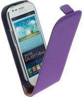 LELYCASE Flip Case Lederen Hoesje Samsung Galaxy S3 Mini Lila