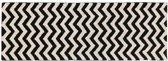Wasbaar tapijt Zigzag Black - 80x230cm