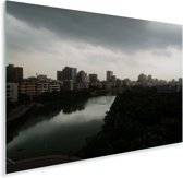 Prachtige horizon in de stad Dhaka Plexiglas 60x40 cm - Foto print op Glas (Plexiglas wanddecoratie)