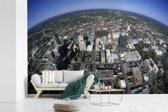Fotobehang vinyl - Luchtfoto van het Noord-Amerikaanse Raleigh breedte 540 cm x hoogte 360 cm - Foto print op behang (in 7 formaten beschikbaar)