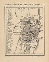 Bol Com Historische Kaart Plattegrond Van De Stad Haarlem In