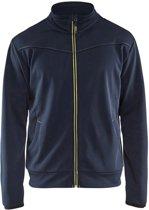 Blåkläder 3362-2526 Service Sweatshirt met rits Donkerblauw/Geel maat XL