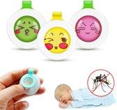 Clip tegen muggen- Muggenbulten voorkomen - Anti muggen baby - Vervangt anti muggenlamp en anti muggen stekker - Veilig muggen verjagen zonder deet