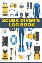 Scuba Diver's Log Book: Scuba Diving Logbook for Beginners and Experienced Divers - Diver Log Book and Notebook Journal for Training, Certific