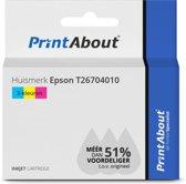 Huismerk Epson T26704010 Inktcartridge 3-kleuren Hoge capaciteit