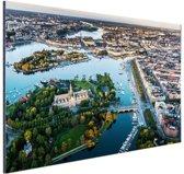Luchtfoto van Stockholm Aluminium 120x80 cm - Foto print op Aluminium (metaal wanddecoratie)