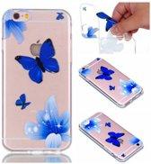TPU Soft Case voor iPhone 6s / 6 4.7-inch –Vlinders Blauw