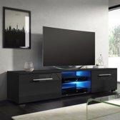 TV kast TV meubel dressoir Tenus incl LED body zwart front hoogglans zwart
