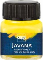 Javana gele textielverf 20ml – Voor licht en donker gekleurd textiel