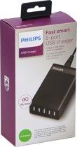 Philips Docking station DLK50450B/10 - 5 poorten - 100/240V - slimme bureau-oplader - zwart - voor smartphones, tablets en meer