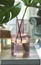 Riviera Maison Mallorca Luster Bottle - Vaas - roze - Glas