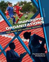 Managing Organizations for Sport and Physical Activity