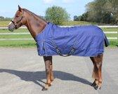 Regendeken deluxe 0 gram blauw/navy paardendeken - maat 205