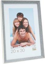 fotokader in grijsblauw met wit randje