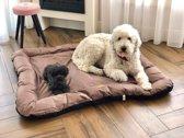 Meisterpet hondenbed/hondenmand Choco/ Zwart XL (ca 100*70*15 cm) W04