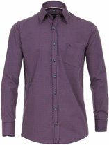 Casa Moda Overhemd Rood Gekleurde Blokjes Print Comfort Fit Kent - 6XL