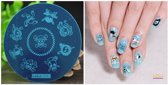 Stamping Plate 016 / nagel stempel- sjabloon