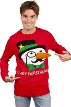 """Kersttrui """"Merry Hipstmas"""" Maat L"""