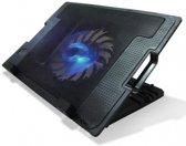 Professionele Notebook Cooling Pad | 1 Grote Stille Cooler/ Koeler Fan | laptopstandaard | Ventilator | Laptop Koeler| Notebookstandaard | Pad voor 11 tot 17 inch laptops - Zwart