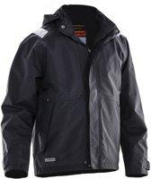 Jobman 1270 Shell Jacket Zwart/Wit maat 3XL